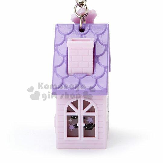 〔小禮堂〕酷洛米 房屋造型LED吊飾燈《紫》掛飾.鑰匙圈 2