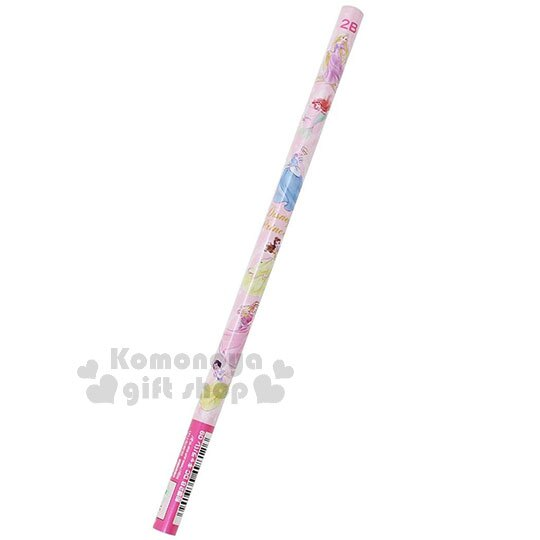 〔小禮堂〕迪士尼 公主們 日製鉛筆組《4入.粉.站姿》2B鉛筆