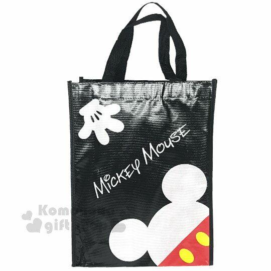 〔小禮堂〕迪士尼 米奇 米妮 直式不織布購物手提袋《紅黑.點點》銅板小物 0