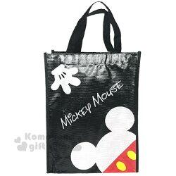 〔小禮堂〕迪士尼 米奇 米妮 直式不織布購物手提袋《紅黑.點點》銅板小物