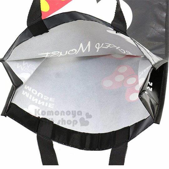 〔小禮堂〕迪士尼 米奇 米妮 直式不織布購物手提袋《紅黑.點點》銅板小物 3
