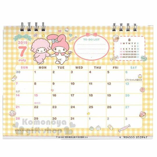〔小禮堂〕美樂蒂 2019日製線圈式桌曆《粉》月曆.日曆.行事曆.銅板小物 3