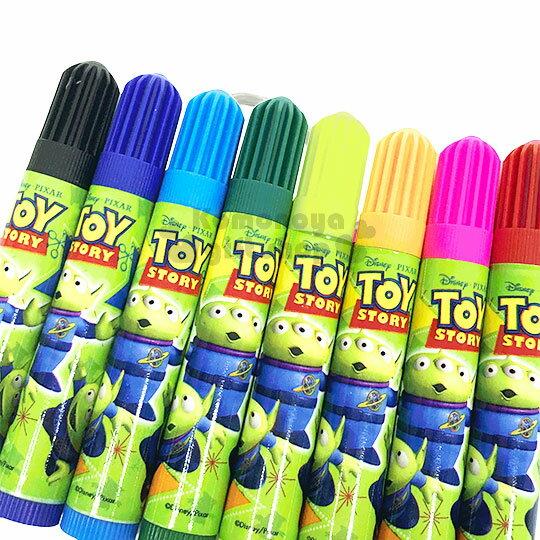 〔小禮堂〕迪士尼 三眼怪 袋裝8色彩色筆組《綠.星星》美術用品.銅板小物 1