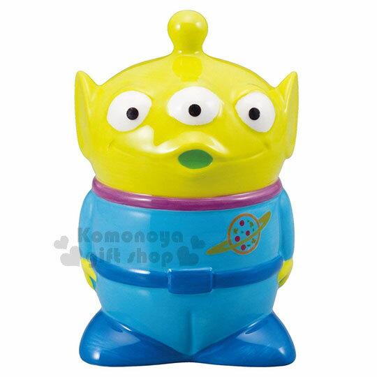 〔小禮堂〕迪士尼 三眼怪 陶瓷存錢筒《綠.站姿》擺飾品.撲滿.儲金筒
