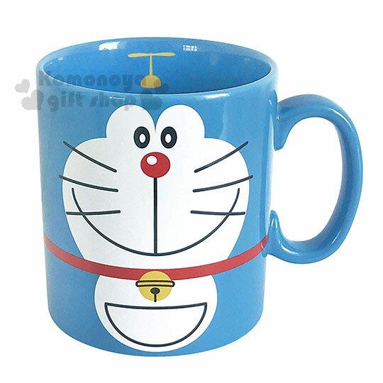 〔小禮堂〕哆啦A夢 日製陶瓷馬克杯《藍.大臉》咖啡杯.日本金正陶瓷