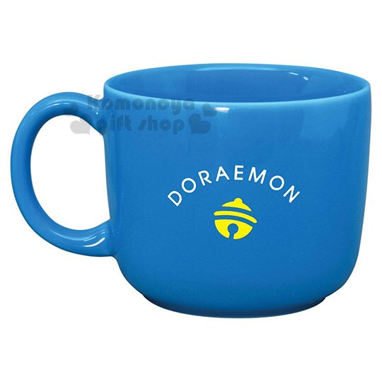 小禮堂 哆啦A夢 日製陶瓷馬克杯《藍.大臉》咖啡杯.日本金正陶瓷