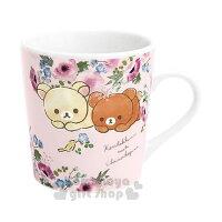 拉拉熊碗/水杯推薦到〔小禮堂〕懶懶熊 拉拉熊  陶瓷馬克杯《粉.花朵》茶杯.咖啡杯.精緻盒裝就在小禮堂-樂天旗艦店推薦拉拉熊碗/水杯