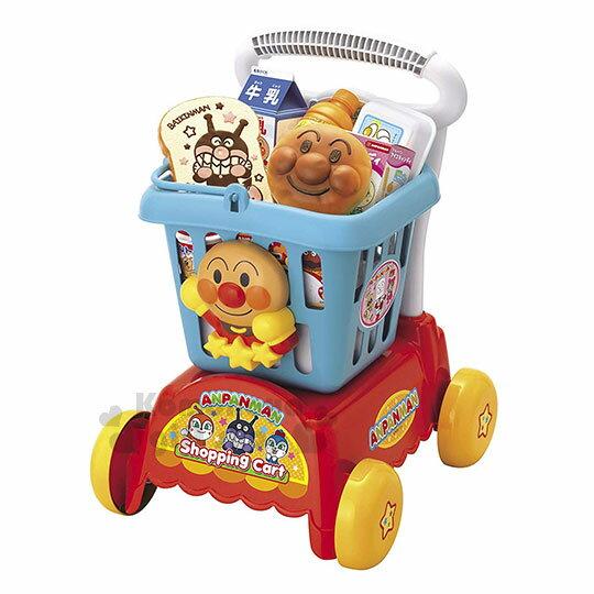 小禮堂 麵包超人 購物車玩具組《藍紅.大臉.朋友》推車.菜籃車