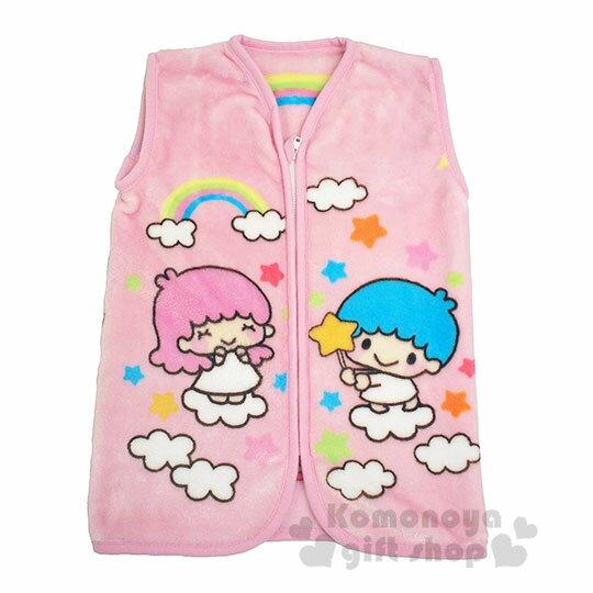 〔小禮堂〕Sanrio大集合 兒童絨毛拉鍊背心毯《粉.角色》50x30cm.保暖毯.居家服 0