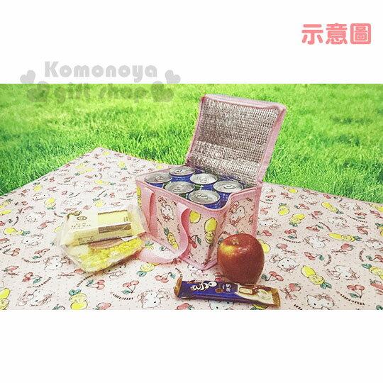 〔小禮堂〕Hello Kitty 立體方型手提保溫保冷袋《S.粉.萊姆》野餐袋.便當袋.手提袋 3