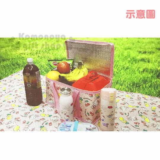 〔小禮堂〕Hello Kitty 立體方型手提保溫保冷袋《L.粉.萊姆》野餐袋.便當袋.手提袋 3