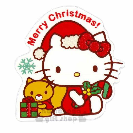 〔小禮堂〕Hello Kitty 造型耶誕卡片《紅粉.聖誕帽》賀卡.聖誕卡.聖誕送禮