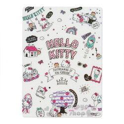 〔小禮堂〕Hello Kitty 日製亮片硬墊板《B5.白.插圖》學童文具