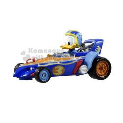 〔小禮堂〕迪士尼 唐老鴨 TOMICA小汽車《藍.賽車.MRR-02》公仔.玩具.模型