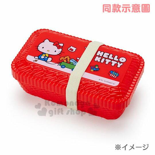 〔小禮堂〕雙子星 編織造型便當盒附束帶《粉.花》580ml.保鮮盒 3