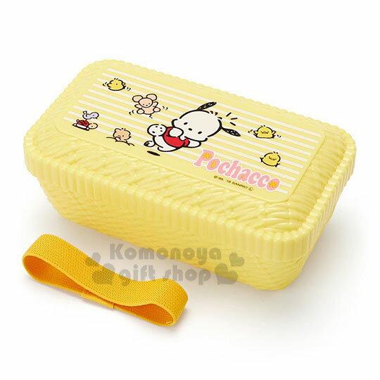 〔小禮堂〕帕恰狗  編織造型便當盒附束帶《黃.跳躍》580ml.保鮮盒 0