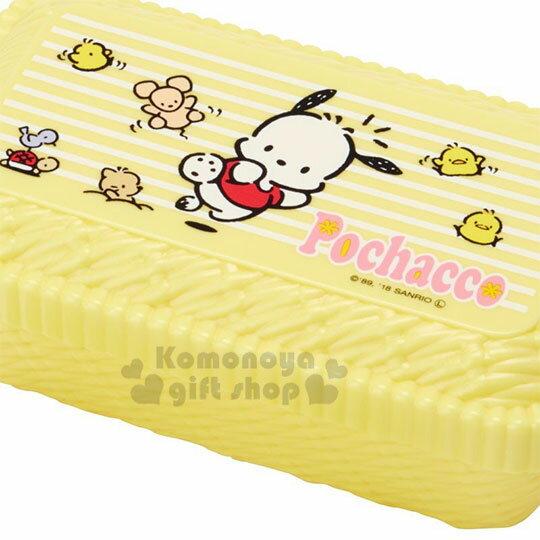〔小禮堂〕帕恰狗  編織造型便當盒附束帶《黃.跳躍》580ml.保鮮盒 1