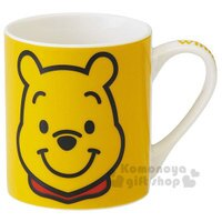 小熊維尼周邊商品推薦〔小禮堂〕迪士尼 小熊維尼  陶瓷馬克杯《黃.大臉》咖啡杯.精緻盒裝