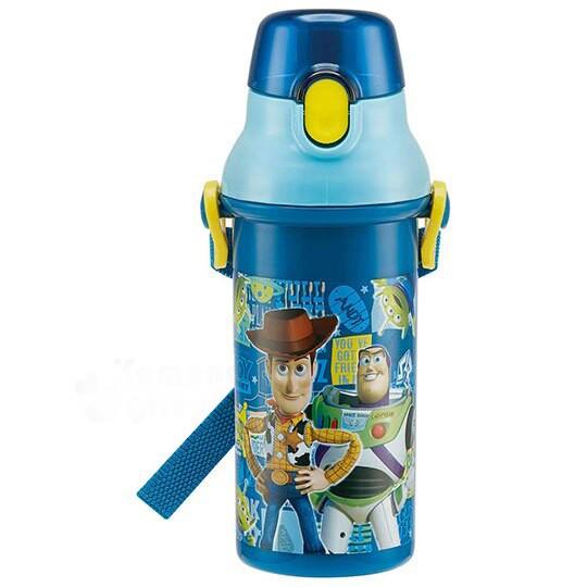 小禮堂 迪士尼 玩具總動員 日製直飲式水壺《深藍.角色》480ml.水瓶.兒童水壺