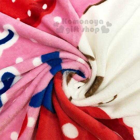〔小禮堂〕Hello Kitty 圓角毛毯披肩《紅.草莓》70x100cm.薄毯.單人毯 2