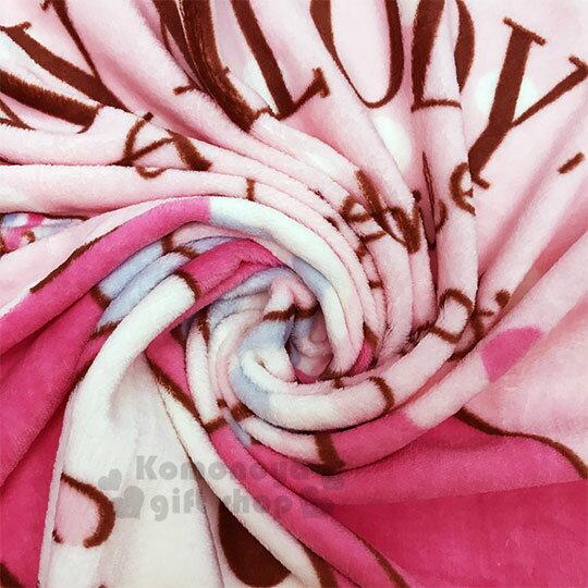 〔小禮堂〕美樂蒂 圓角毛毯披肩《粉.摸臉》70x100cm.薄毯.單人毯 2