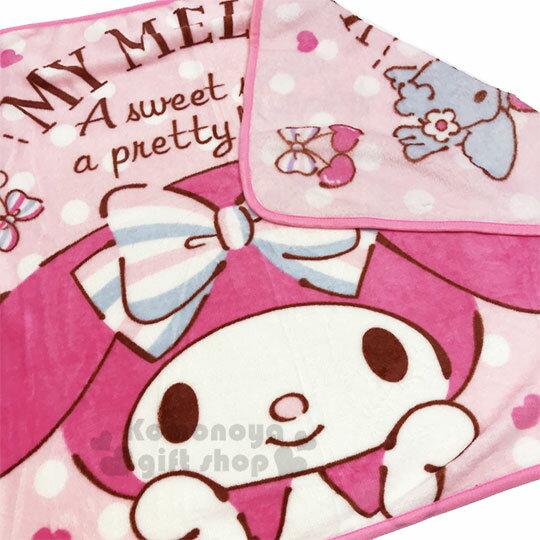 〔小禮堂〕美樂蒂 圓角毛毯披肩《粉.摸臉》70x100cm.薄毯.單人毯 3