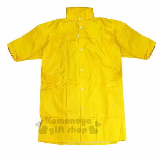 〔小禮堂〕迪士尼 小熊維尼 成人前開式尼龍雨衣《XL.黃.坐姿》雨具 1