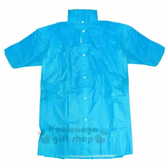 〔小禮堂〕迪士尼 史迪奇 成人前開式尼龍雨衣《XL.藍.坐姿》雨具 1
