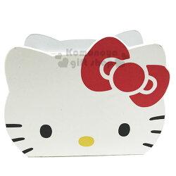 〔小禮堂〕Hello Kitty 造型仿皮木質手機座《紅白》收納盒.收納筒.筆筒