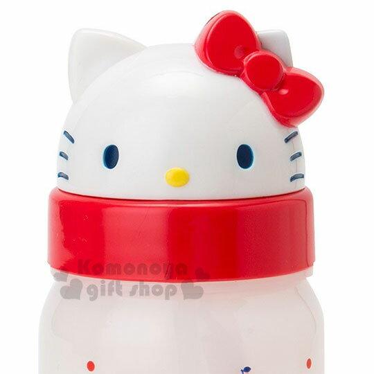 〔小禮堂〕Hello Kitty 美樂蒂 造型吸管水壺附腕繩《大臉》350ml.兒童水壺.水瓶 2