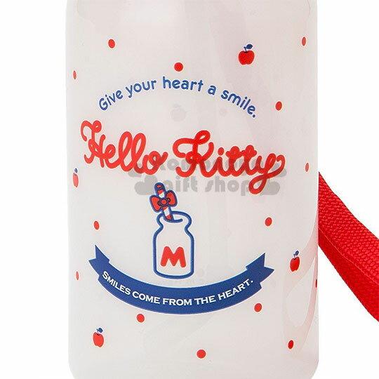 〔小禮堂〕Hello Kitty 美樂蒂 造型吸管水壺附腕繩《大臉》350ml.兒童水壺.水瓶 3