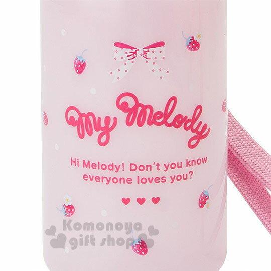〔小禮堂〕Hello Kitty 美樂蒂 造型吸管水壺附腕繩《大臉》350ml.兒童水壺.水瓶 7