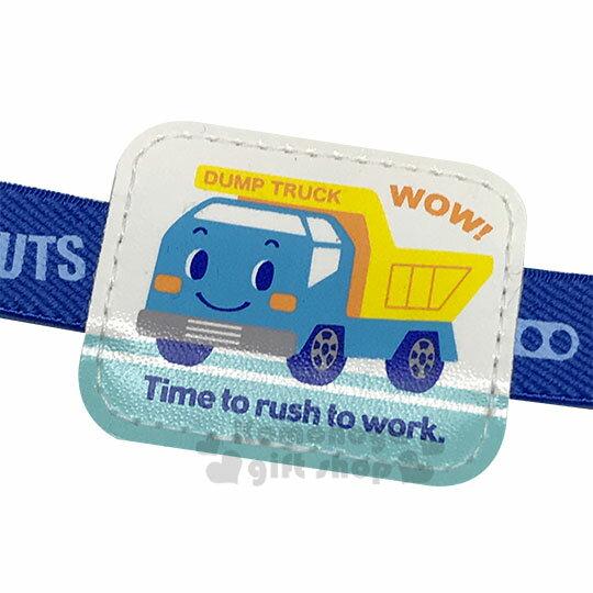 〔小禮堂〕RB工程車 日製尼龍便當束帶《藍.大臉》鬆緊帶 1