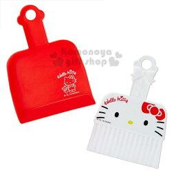 〔小禮堂〕Hello Kitty  迷你造型掃把畚箕組《紅.大臉》小掃把.桌掃組.清潔用品