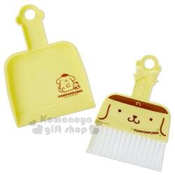 〔小禮堂〕布丁狗 迷你造型掃把畚箕組《黃.大臉》小掃把.桌掃組.清潔用品