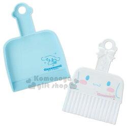 〔小禮堂〕大耳狗 迷你造型掃把畚箕組《藍.大臉》小掃把.桌掃組.清潔用品