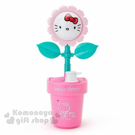 〔小禮堂〕Hello Kitty 盆栽造型聲動存錢筒《粉》擺飾.撲滿.儲金筒.精緻盒裝 0