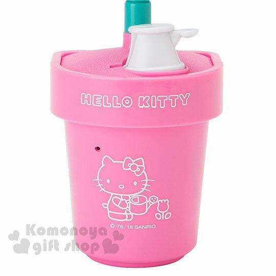 〔小禮堂〕Hello Kitty 盆栽造型聲動存錢筒《粉》擺飾.撲滿.儲金筒.精緻盒裝 3