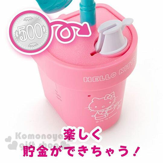 〔小禮堂〕Hello Kitty 盆栽造型聲動存錢筒《粉》擺飾.撲滿.儲金筒.精緻盒裝 4