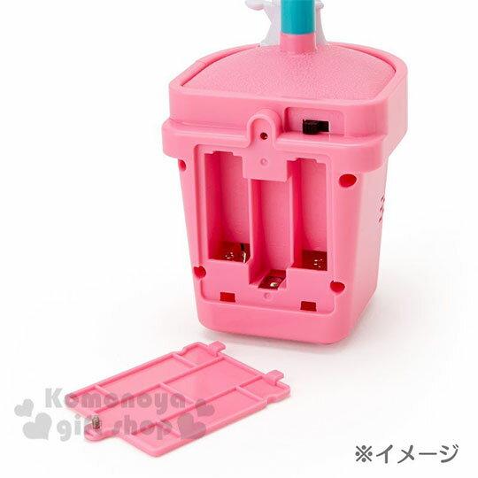 〔小禮堂〕Hello Kitty 盆栽造型聲動存錢筒《粉》擺飾.撲滿.儲金筒.精緻盒裝 5