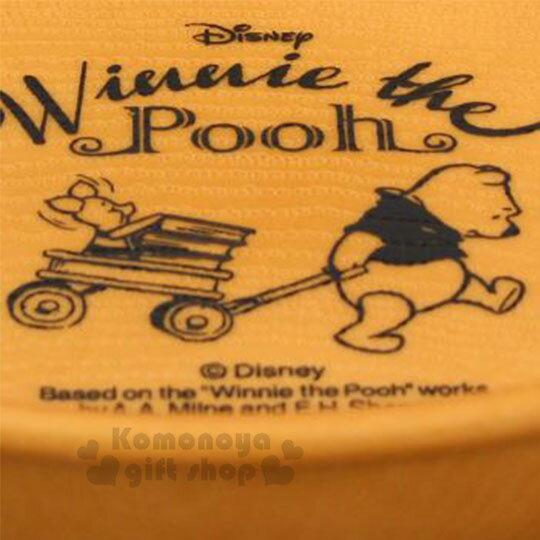 〔小禮堂〕迪士尼 小熊維尼 日製仿木紋塑膠圓盤《棕》沙拉盤.點心盤.菜盤 1