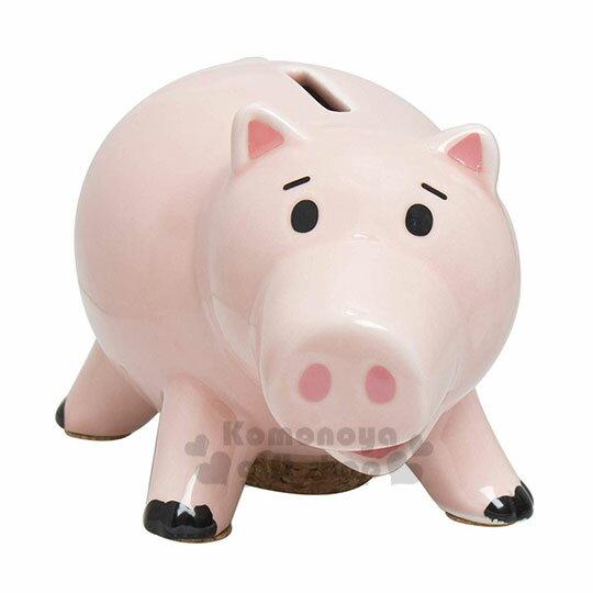 〔小禮堂〕玩具總動員 培根豬 陶瓷存錢筒《粉》擺飾.撲滿.儲金筒.精緻盒裝