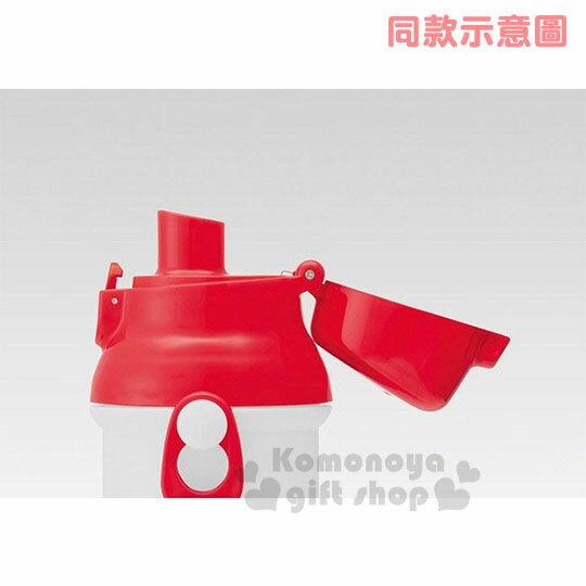 〔小禮堂〕史努比 日製直飲式水壺附背帶《紅白.大臉》480ml.水瓶.兒童水壺 1