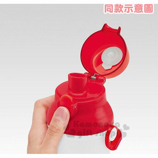 〔小禮堂〕史努比 日製直飲式水壺附背帶《紅白.大臉》480ml.水瓶.兒童水壺 2
