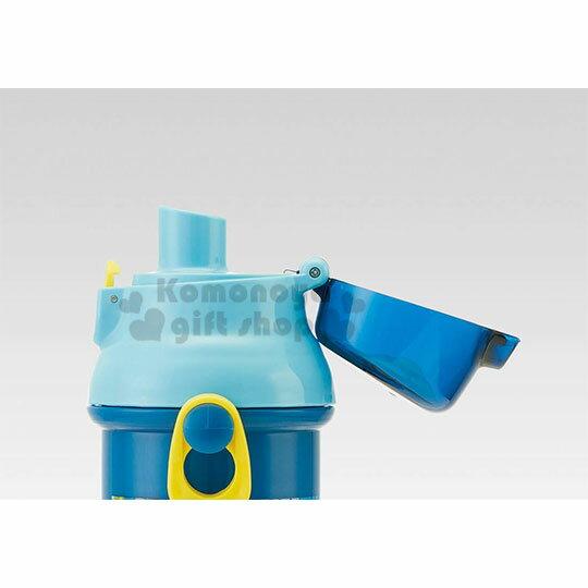 〔小禮堂〕Cosmic star 日製直飲式水壺附背帶《藍.星球》480ml.水瓶.兒童水壺 3
