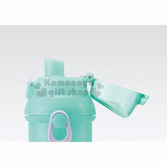 〔小禮堂〕迪士尼 小美人魚 日製直飲式水壺附背帶《綠.站姿》480ml.水瓶.兒童水壺 3
