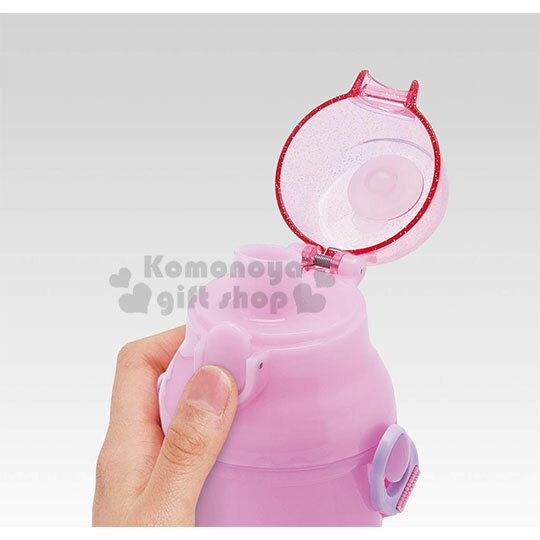 〔小禮堂〕迪士尼 長髮公主 日製直飲式水壺附背帶《紫.站姿》480ml.水瓶.兒童水壺 1