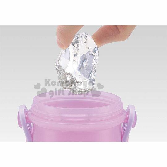 〔小禮堂〕迪士尼 長髮公主 日製直飲式水壺附背帶《紫.站姿》480ml.水瓶.兒童水壺 2