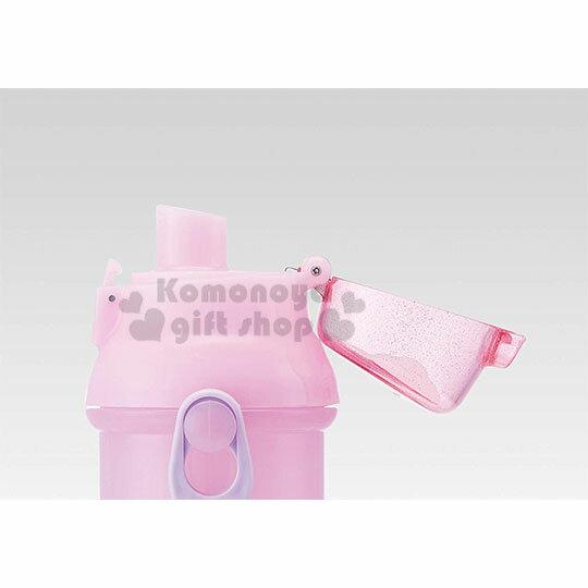 〔小禮堂〕迪士尼 長髮公主 日製直飲式水壺附背帶《紫.站姿》480ml.水瓶.兒童水壺 3