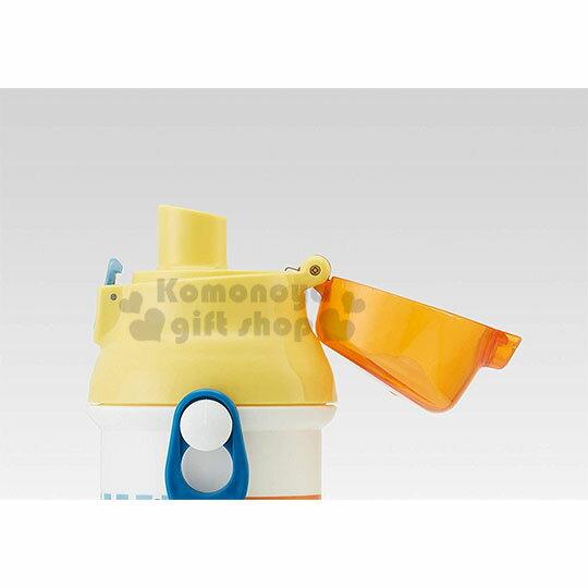 〔小禮堂〕小小兵 日製直飲式水壺附背帶《黃.油漆》480ml.水瓶.兒童水壺 3
